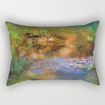 Fantasy Lake Stream Rectangular Pillow by Theresa Campbell D'August Art