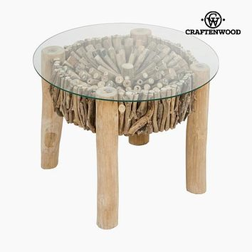 Side Table Mindi wood Circular - Autumn Collection by Craftenwood
