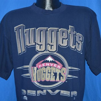 90s Denver Nuggets Basketball Logo t-shirt Large