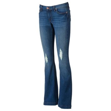 Underground Soul Skinny Flare Juniors' Jeans, Size: