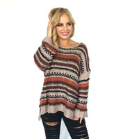 Origins Stripe Knit Sweater