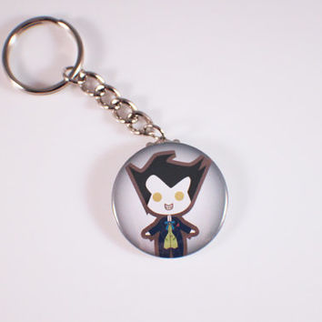 Joker Button Keychain