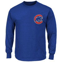 Majestic Chicago Cubs New Wordmark Long Sleeve T-Shirt - Royal Blue