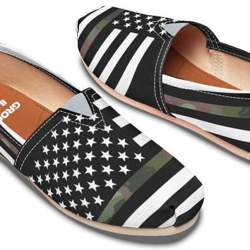 Camo American Flag Casual Shoes