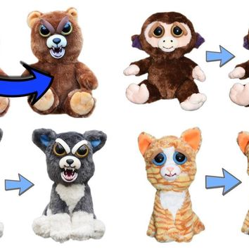 Feisty Pets Set of 4- Cat, Dog, Bear and Monkey