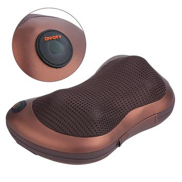 Electronic Heat Massage Pillow Massager Cushion Car Home Lumbar Neck Back Shoulder Relaxation