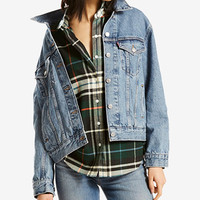 Levi's® Ex-Boyfriend Cotton Denim Trucker Jacket | macys.com