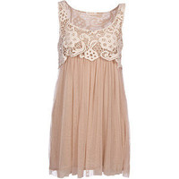 clothing Dany Lace Tulle Dress - Womens Short Dresses - Bird... - Polyvore
