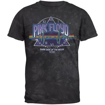 Pink Floyd - Time Tour 1973 Black Tye Die T-Shirt