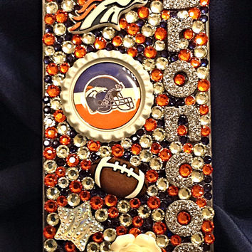 Denver Broncos Crystal phone case, bling case, football sports case