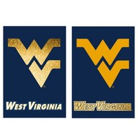 West Virginia University Double-Sided Vertical Glitter Flag