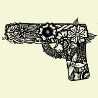 Gun Art Print by Jazz Nash