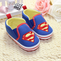 Baby Toddler Boy Kids Superman Canvas Crib Casual Shoes PreWalker Sneaker Comfy = 1946730884
