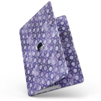 Purple Watercolor Ring Pattern - MacBook Pro without Touch Bar Skin Kit