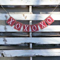 XoXo Valentines Banner, Photo Prop Banner, Rustic Wedding Decor,Valentines Decor