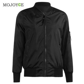 Trendy Bomber Jacket Classic Zip Up Biker Stylish Vintage Jacket Crop Coats Women Jacket Black Army Green Women Basic Coats SN9