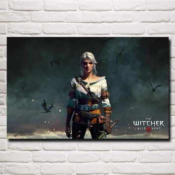 FOOCAME The Witcher 3: Wild Hunt Ciri Game Art Silk Poster Prints Home Wall Decor Painting 12x19 15x24 19x30 22x35 Inches
