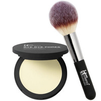 IT Cosmetics Bye Bye Pores Pressed Silk Airbrush Powder with Luxe Brush - A262393 — QVC.com