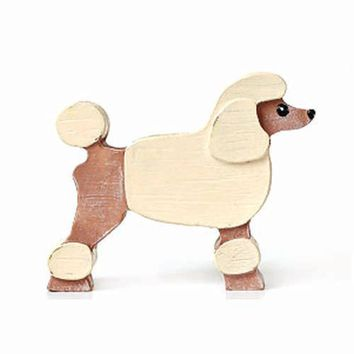 French Poodle Shaped Animal Photo Memo Stand Business Card Holder | Gifts for Dog Lovers