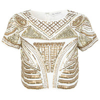 Baroque Embellished Top - Vintage Style - Clothing