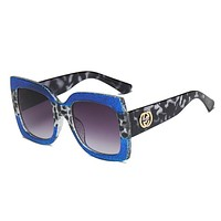 GUCCI Popular Women Men Summer Style Sun Shades Eyeglasses Glasses Sunglasses Blue I12378-1