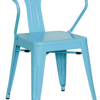 Blue Galvanized Steel Side Chair (Set of 4)