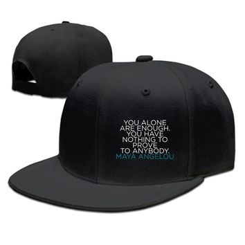Maya Angelou Letter To My Daughter Funny Unisex Adult Womens Hip-hop Caps Mens Hip-hop Cap