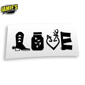 Country Love Decal - Four Sizes - Color Options