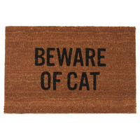 Beware Of Cat Doormat