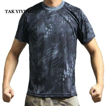 DCCKFS2 TAK YIYING Summer Outdoors Sport t shirt Camouflage