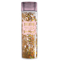Sweating for the Wedding - Double Wall Acrylic Water Bottle with Glitter