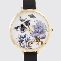ASOS Butterfly & Flower Large Face Print