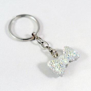 Bling Bow Sparkly Keychain, Cute, Kitschy, Kawaii :D