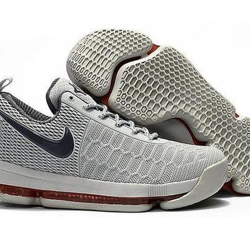 ONETOW Nike KD 9 Grey Red Basketball Shoes