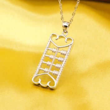 Fashion Jewelry abacus chain s925 Pendants Necklaces for Women / Men-171206