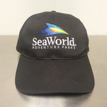 Authentic Genuine Vintage 90's Sea World Adventure Parks Promotional Tourist Snapback Dad Hat Shamu Killer Whale Orca