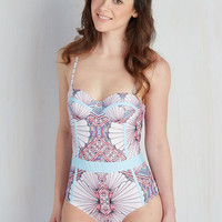 Need I Say Shore? One-Piece Swimsuit in Deco