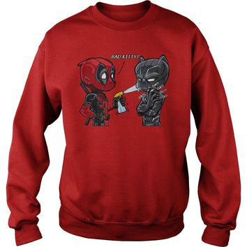 Bad Kitty Deadpool vs Black panther shirt Sweatshirt Unisex