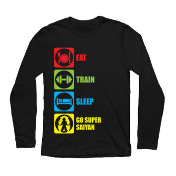 Super Saiyan - Eat, Train, Sleep, Go Super Saiyan 2 -Unisex Long Sleeve - SSID2016