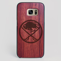 Buffalo Sabres Galaxy S7 Edge Case - All Wood Everything