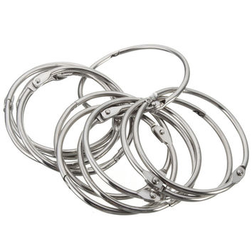 Shower Curtain Hooks Rings 12Pcs Round Heavy Duty Anti Rust Stainless Steel Easy Glide 5cm Silver Bathroom Tool