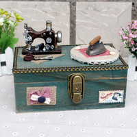 Big Size Blue Music Box Lock Creative Gifts Accessory Box [6282823814]