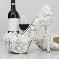 Fashion Designer Womens Silver Rhinestone High Stilettos Heels Spring Wedding Prom Dress Party Occasions Pumps Shoes