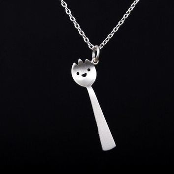 Spork Necklace by marymaryhandmade on Etsy