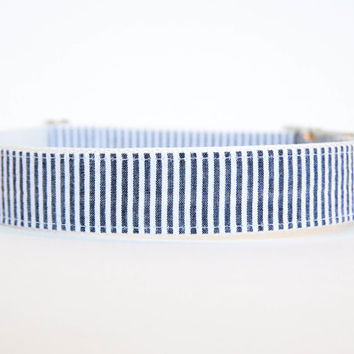 Seersucker Dog Collar in Black
