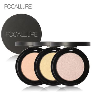 FOCALLURE Professional Brand Makeup Two-Color Bronzer Highlighter Powder Trimming Powder Make Up Cosmetic Face Concealer Bronzer