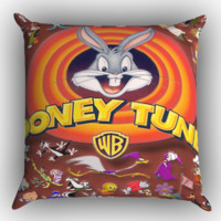 looney tunes x0571 Zippered Pillows  Covers 16x16, 18x18, 20x20 Inches
