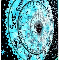 Zodiac Astrology Large Tapestry Wall Hanging Psychedelic Star Wall Hanging