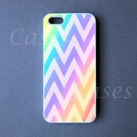 Chevron Iphone5case Colorful Custom Iphone 5 Cover Pretty Top Lovely Unique C...