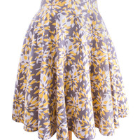 Floral Yellow Circle Skirt